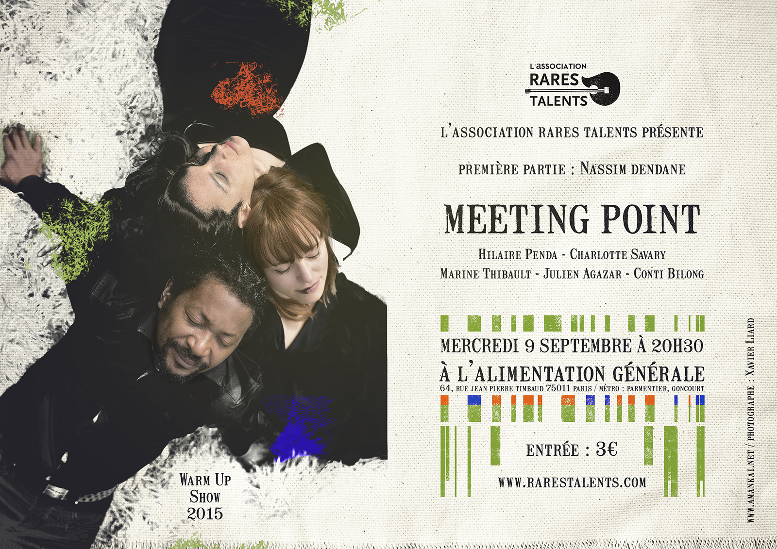 Affiche Warm Up Show / Meeting Point, septembre 2015