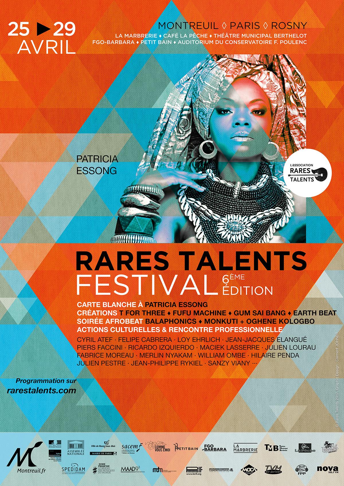 Affiche Festival Rares Talents 2017