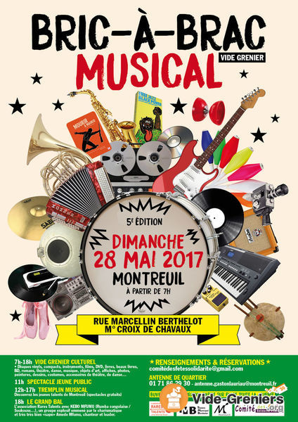 Bric-à Brac Musical, Mai 2017