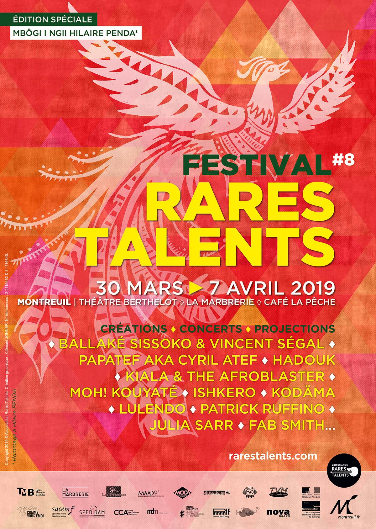 Affiche Festival Rares Talents 2019 © Clément JOHNER